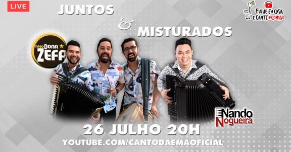 LIVE TRIO DONA ZEFA E NANDO NOGUEIRA - Juntos e Misturados