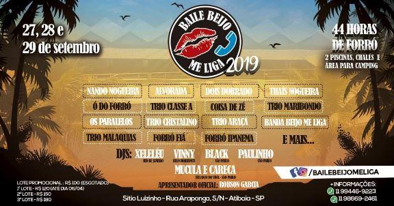 Baile Beijo Me Liga 2019